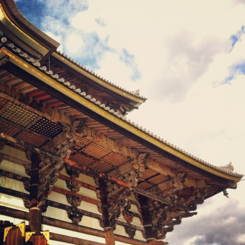 Nara Buddha house woodwork temple detail roadtrip Japan